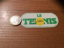 AUTOCOLLANT, Sticker * Petit Modèle «LE TENNIS La Revue Du Pratiquant» - Autocollants