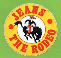 THE RODEO JEANS * VETEMENT COW BOY * AUTOCOLLANT A1679 * - Autocollants