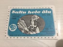 Ancienne Étiquette 1.1 BIÈRE ÉTRANGÈRE SAKA HELE ÕLU - Bière