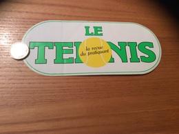 AUTOCOLLANT, Sticker Grand Modèle «LE TENNIS La Revue Du Pratiquant» - Autocollants