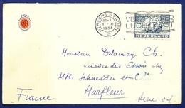 1934 Covers, Utrecht Station - Harfleur Seine, France, Netherlands, Nederland, Holland - 1891-1948 (Wilhelmine)