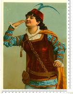 CHROMO LITHO..GRAND FORMAT...H  25 Cm...JEUNE TROUBADOUR - Vieux Papiers
