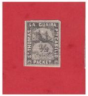 ANTILLES --ST THOMAS -- LA GUAIRA --PORTO CABELLO --TIMBRES NAVIRE PRIVE --FACIT --LG32 -- NEUF SANS GOMME-- - Antillen