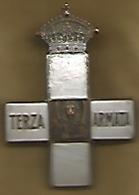 Prima Guerra Mondiale, 1919, Croce Terza Armata, Al Retro A Ricordo E Riconoscenza, Bronzo Argentato - Italy