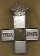 Prima Guerra Mondiale, 1919, Croce Terza Armata, Al Retro A Ricordo E Riconoscenza, Bronzo Argentato. - Other