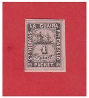ANTILLES --ST THOMAS -- LA GUAIRA --PORTO CABELLO --TIMBRES NAVIRE PRIVE --FACIT --LG27 -- NEUF SANS GOMME-- - West Indies