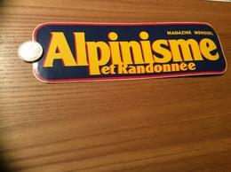 AUTOCOLLANT, Sticker Grand Modèle «Alpinisme Et Randonnée, MAGAZINE MENSUEL» - Autocollants