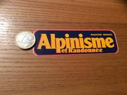 AUTOCOLLANT, Sticker * Petit Modèle «Alpinisme Et Randonnée, MAGAZINE MENSUEL» - Autocollants