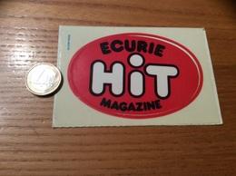 AUTOCOLLANT, Sticker Type 1 «ECURIE HIT, MAGAZINE» - Autocollants