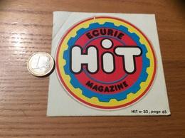 AUTOCOLLANT, Sticker Type 2 «ECURIE HIT, MAGAZINE» - Autocollants