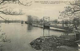 TRIEL SUR SEINE CRUE DE SEINE 1910  VUE GENERALE DU PONT - Triel Sur Seine