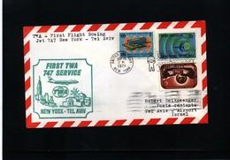 USA 1971 TWA First Flight 747 New York - Tel Aviv - Vereinigte Staaten