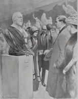Illustrations De Louis SABATTIER  Le Buste D'Edouard VII  1910 - Old Paper
