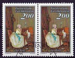 LIECHTENSTEIN Mi. Nr. 959 O Waagrechtes Paar (A-2-32) - Liechtenstein