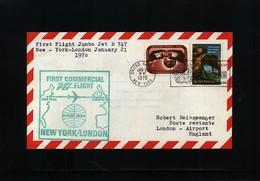 USA 1970 Pan Am First Flight 747 New York - London - Vereinigte Staaten
