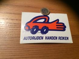 "AUTOCOLLANT, Sticker ""AUTORIJDEN HANDEN REIKEN"" (voiture, Pays-Bas) - Autocollants"