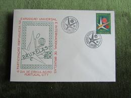 Portugal 1958 FDC Participação De Portugal Na Exposição De Bruxelas Duas Cartas - FDC
