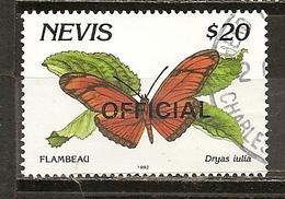 Nevis Official Papillons Butterflies Obl - St.Kitts-et-Nevis ( 1983-...)