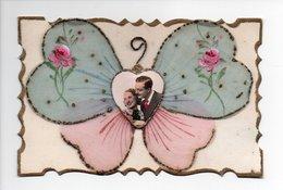 Couple: Applications En Tissu En Forme De Papillon, Roses Peintes à La Main, Paillettes, Coeur, Amour (19-44) - Couples