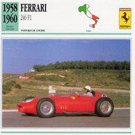 Ferrari 246 F1 Grand Prix (1958)  -  Voiture De Course   -  Fiche Technique/Carte De Collection - Grand Prix / F1