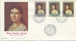 VATICANO - FDC 1962 TRE STELLE - PAULINE MARIA JARICOT - FDC