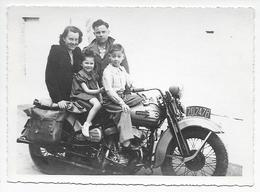 Moto Harley Davidson 1949 Grande Photo 17,5x12,5 - Personnes Anonymes