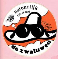 Sticker - Natuurlijk Reis Ik Met DE ZWALUWEN - Hiron Club - Autocollants