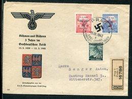 Boehmen Und Maehren / 1941 / Mi. 27, 62Zf, 65, 74Zf Und 76 Auf Brief, SSt. 58 (5/452) - Bohemia & Moravia