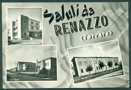 CARTOLINA - FERRARA - CV2230 Saluti Da RENAZZO (FE) 3 Vedutine, FG, Viaggiata 1960 Per Polia (CZ), Buone Condiz - Ferrara
