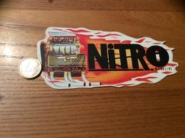 "AUTOCOLLANT, Sticker ""NITRO MAGAZINE"" (moteur, Automobile) - Autocollants"