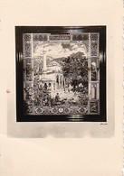 Foto Begova Moschee In Sarajevo - Darstellung Auf Gobelin - Teppichweberei Banovinska - Ca. 1940 - 5*5cm (38745) - Places