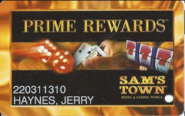 Sam's Town Tunica MS - 8th Issue Slot Card - Casino Cards