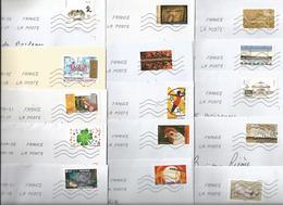 France - Lot De 600 Enveloppes (2,3 Kg) Affranchies Avec Un Timbre Autoadhésif - Oblitérations Diverses - Timbres