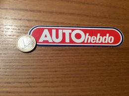 "AUTOCOLLANT, Sticker ""AUTO Hebdo"" (magazine Automobile) - Autocollants"