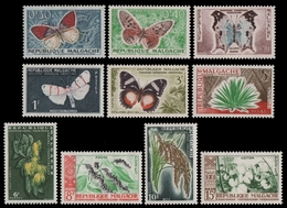 Madagaskar 1960 - Mi-Nr. 445-454 ** - MNH - Fauna & Flora - Madagaskar (1960-...)