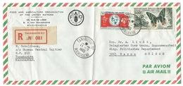 ENVELOPPE MADAGASCAR / TANANARIVE RP 1965 POUR BERNE SUISSE / RECOMMANDE / UIT & PAPILLON / FAO ONU - Madagascar (1960-...)