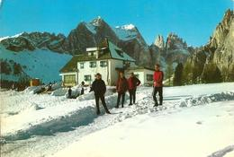 Dolomiti Del Catinaccio (Trentino) - Rifugio Ciampedie M. 2000 - Veduta Invernale Col Catinaccio M. 2981 - Italia