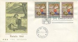 VATICANO - FDC TRE STELLE 1961   - NATALE - ARTE - FDC