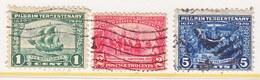 U.S. 548-50   (o)   PILGRIM  ISSUE   1920 - Used Stamps