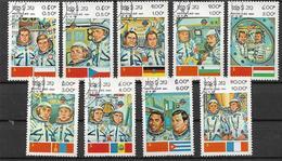 LAOS  1983 GIORNATA DELL'AUSTRONAUTICA YVERT. 466-474 USATA VF - Laos