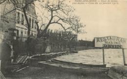 TRIEL SUR SEINE QUAI DE SEINE CRUE 1910 - Triel Sur Seine