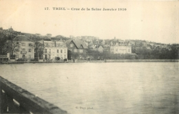 TRIEL SUR SEINE  CRUE DE SEINE 1910 - Triel Sur Seine