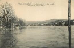 TRIEL SUR SEINE  CRUE DE SEINE 1910  QUAI RIVE DROITE ET RIVE GAUCHE - Triel Sur Seine