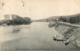 TRIEL SUR SEINE  VUE PRISE DU PONT SUSPENDU - Triel Sur Seine