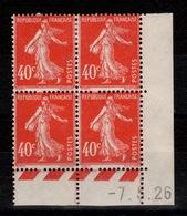 Coin Daté - YV 194 N* (2 Timbres Nord) N** (2 Timbres Et Tour) Coin Daté Du 7.5.26 Cote 40 Euros - Dated Corners