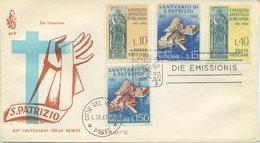 VATICANO - FDC 1961 VENETIA - SAN PATRIZIO - FDC