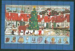Denmark Christmas Sheet 1993 Kalundborg  Museum. Santa,Animals,Farm - Full Sheets & Multiples