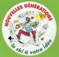 NOUVELLES GENERATIONS LE SKI A VOTRE IDEE * AUTOCOLLANT A1696 * - Autocollants