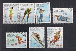 LAOS  1984  GIOCHI OLIMPICI INVERNALI A SERAJEVO YVERT. 525-531 USATA VF - Laos