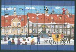 Denmark. Christmas Sheet 1991 Kalundborg. Ole Lund's Estate. Mail Coach.People. - Full Sheets & Multiples